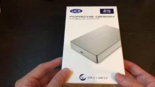 4TB LaCie Porsche Design USB-C Drive - Unboxing