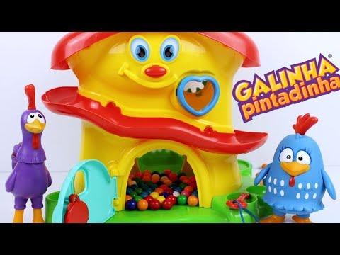 GALINHA PINTADINHA Casinha Magica com Surpresas Learn Colors Video for Children Canal KidsToyShow