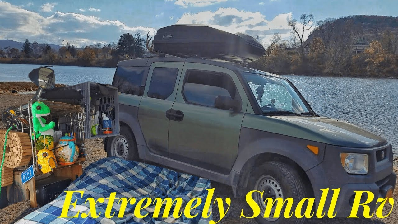 Honda Element Tiny House 35 Sqft Tour Living Out Of A Van Vanlife