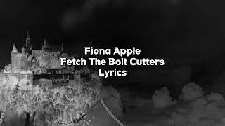 Fiona apple - fetch the bolt cutters app...