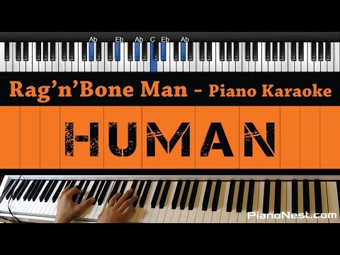 Rag'n'Bone Man - Human - Piano Karaoke / Sing Along / Cover with Lyrics