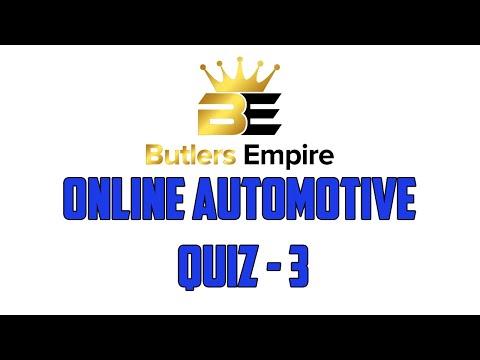 Butlers Empire Virtual Online Automotive Quiz 3