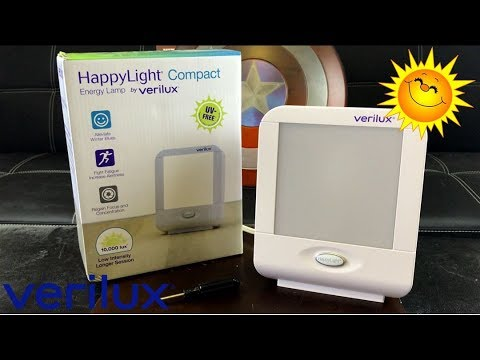 new style 9a2c3 ef82b Verilux HappyLight Compact Light Therapy Energy Lamp Review | How To Combat  S.A.D.