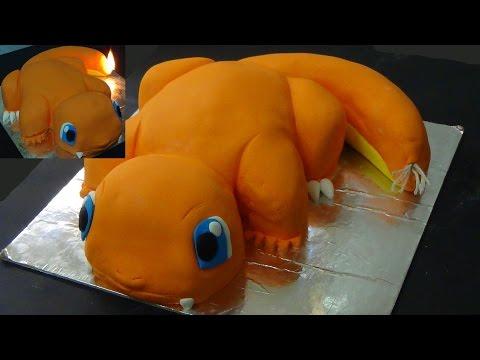 how to make charmander cake