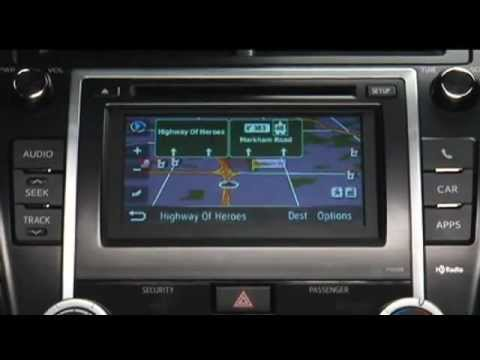 how to use navigation system 2012 toyota camry youtube