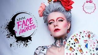 NYX Face Awards UKRAINE 2017 Entry   Queen of cards