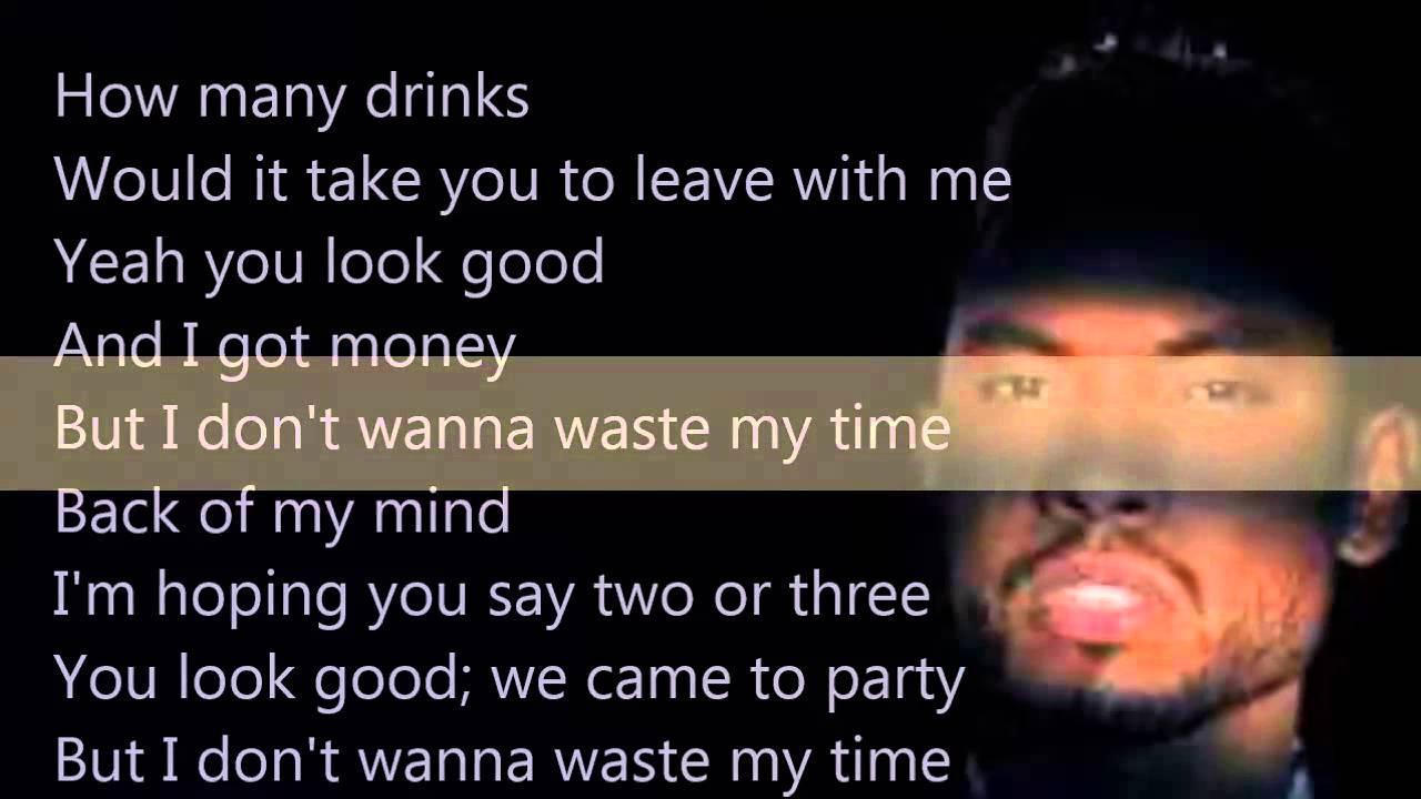 Miguel How Many Drinks Remix Lyrics