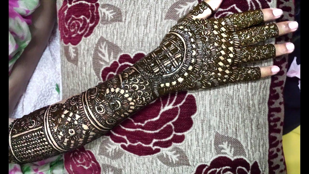 Easy Bridal Mehndi Patterns : Full hand palm mehendi design for bride easy traditional bridal