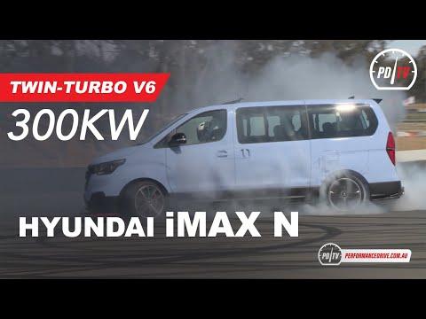 300kW Twin-turbo Hyundai IMax N 'Drift Bus' Torturing Tyres