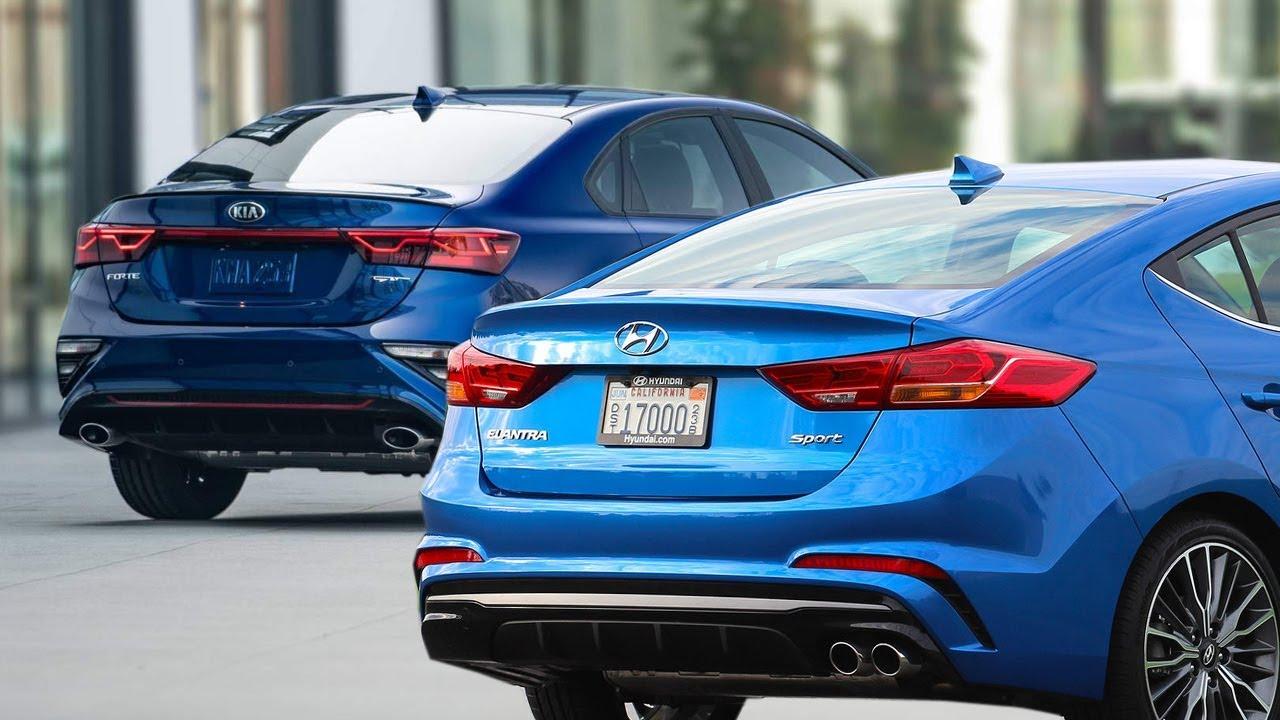 2020 Kia Forte Gt Vs 2018 Hyundai Elantra Sport Youtube