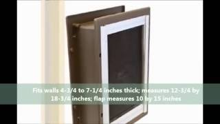Buy Petsafe Telescoping Aluminum Wall Entry Pet Door At Petproductsonline.info Buy Petsafe Products!