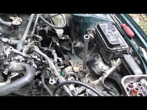 How to replace Toyota Corolla VVT-i engine project: Part 35/52 Engine mountings removal
