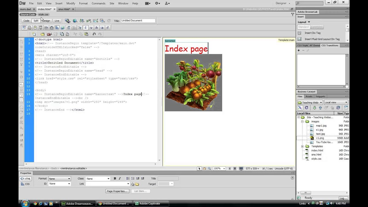 free php templates for dreamweaver - cs6 dreamweaver templates youtube