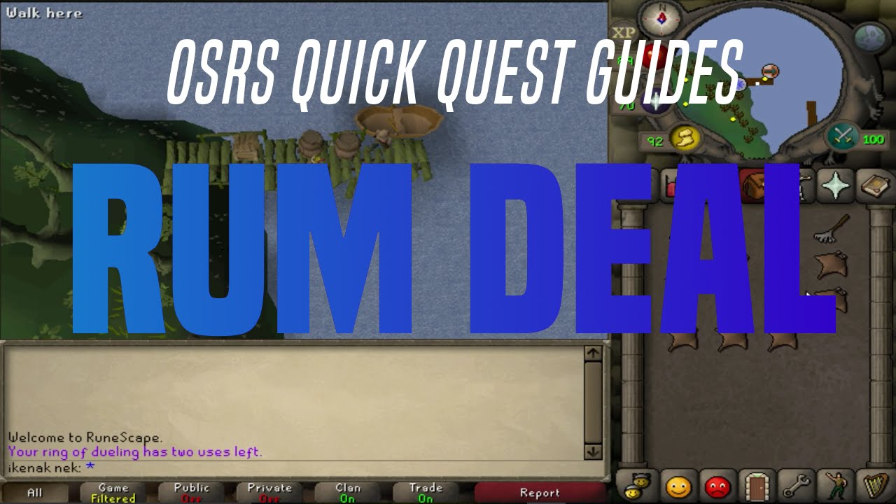 Quick Quest Guides Rum Deal 1128 Youtube