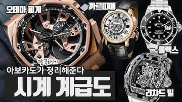 시계 계급도 총 정리! | 명품 시계 | 롤렉스 | 순위