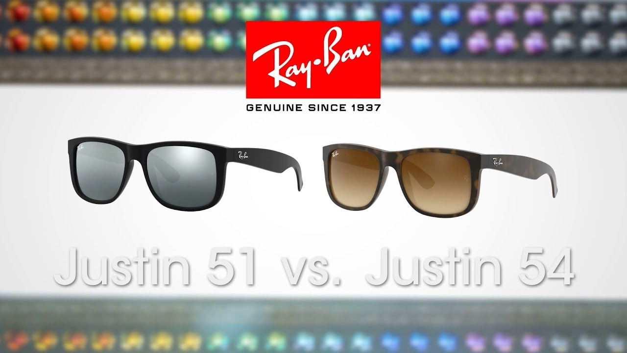 Ray Ban Justin 51 Vs 54 Sportrx