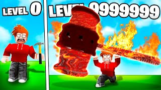 CHOP BOUGHT THE LEVEL 999,999 FIRE HAMMER IN ROBLOX
