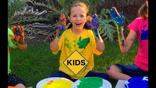 Learn Colors! Surprise Rainbow Paint Mystery with Sign Post Kids!