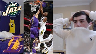 lakers get smacked vs the jazz.. reaction. lebron might be out till march.. emotional