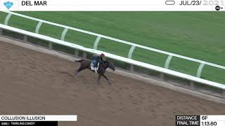 Work of the Day at Del Mar: Collusion Illusion worked 6 Furlongs in 1:13.60 on July 23rd, 2021.