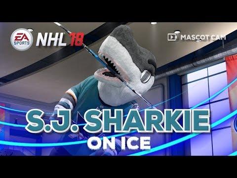 NHL 18 Mascot Cam on Ice | S.J. Sharkie (San Jose Sharks)
