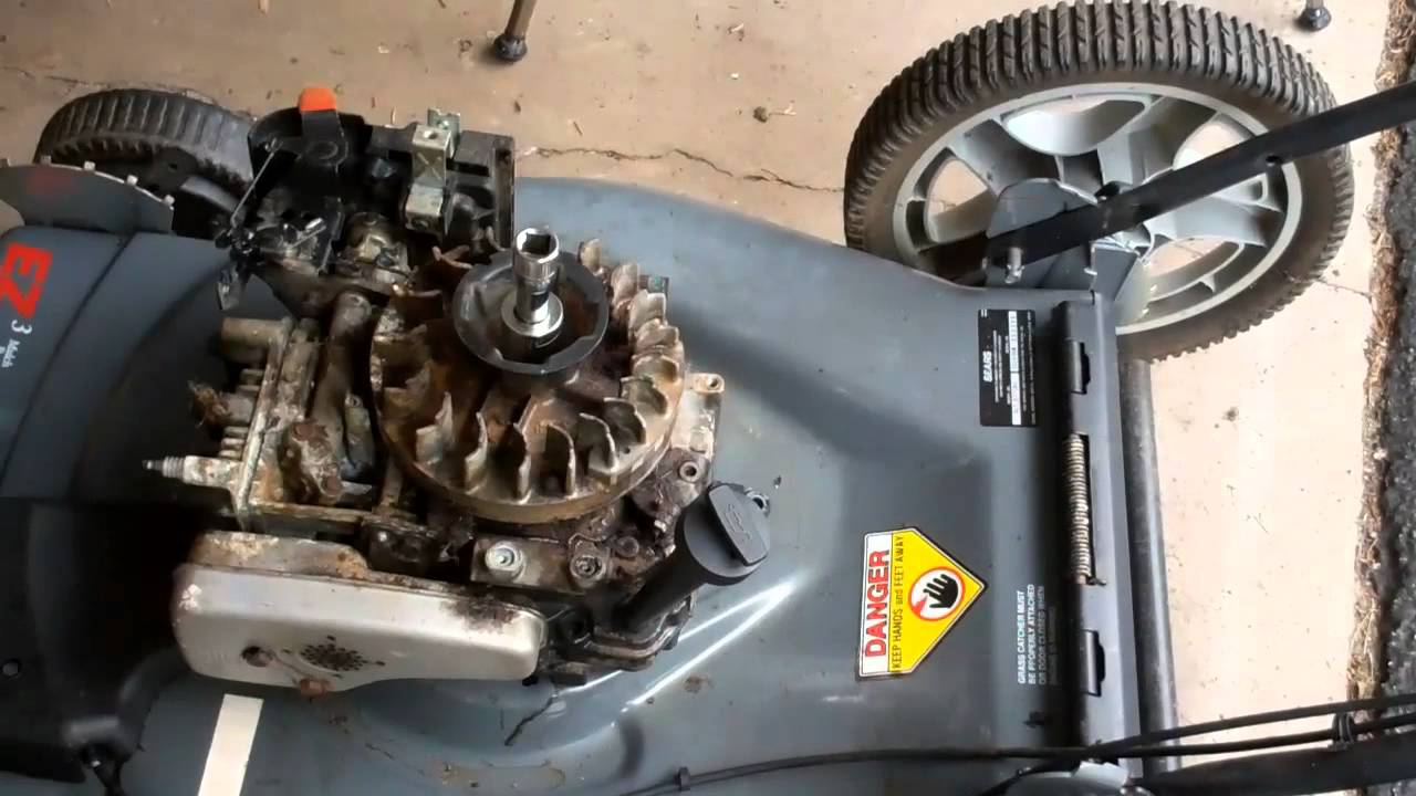 Rebuilt Lawn Tractor Engines : Removing lawn mower engine part youtube