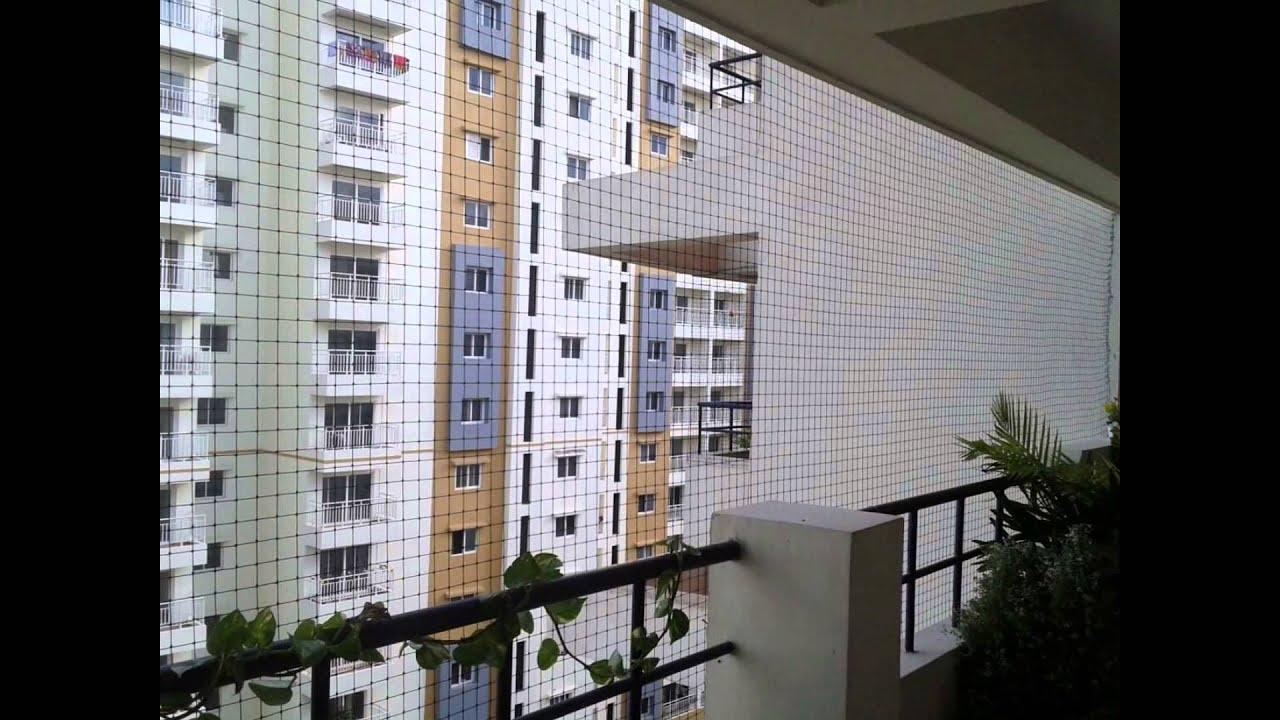 Balcony safety nets in bangalore call deva 9008929950 for Balcony covering nets