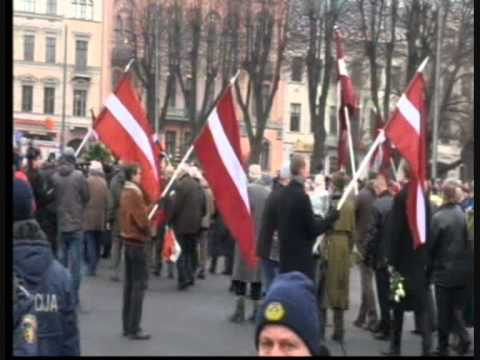 Waffen SS march in Riga Latvia 2012