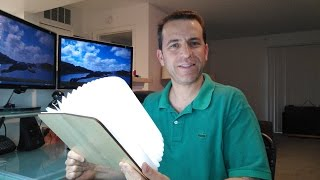 Wooden Folding LED Nightlight Book Review