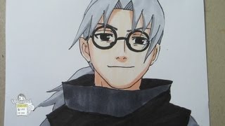 How to draw Kabuto Yakushi 薬師カブト
