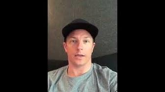 Kimi Räikkönen on Instagram live