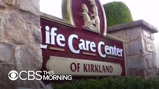 A cdc report covering the alarming coronavirus spread at washington state's life care center revealed that nursing home's staff continued to work while s...