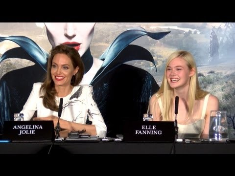 Angelina Jolie & Elle Fanning Interviews - Full Maleficent Press Conference