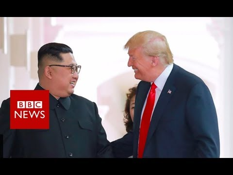 Trump on Kim Jong-un: 'We fell in love' - BBC News
