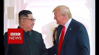 Trump on Kim Jong-un: 'We fell in love' - BBC News
