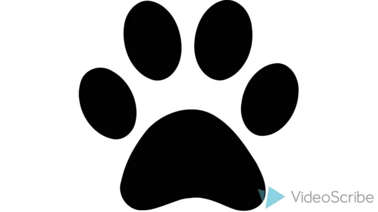 Picture Of Animation Dog Paw Print