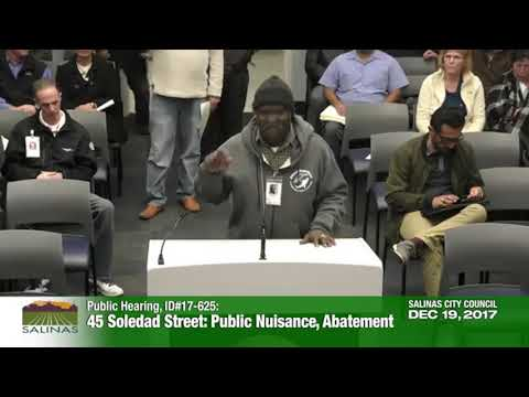 Victory Mission at 45 Soledad Street: Public Nuisance, Abatement- Public Comment