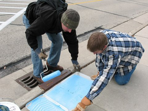Controlling Stormwater on the UW-Green Bay Campus