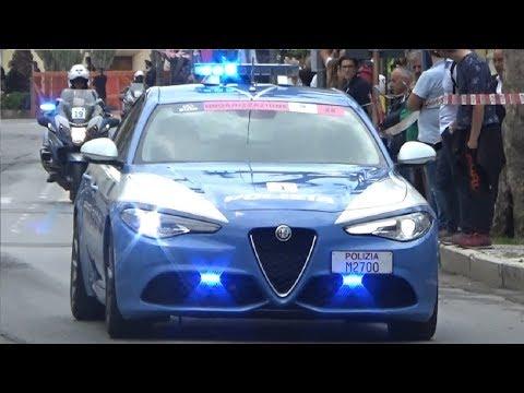 Polizia Stradale in scorta Giro d'Italia 2018/Italian Highway Patrol escorting Giro d'Italia 2018