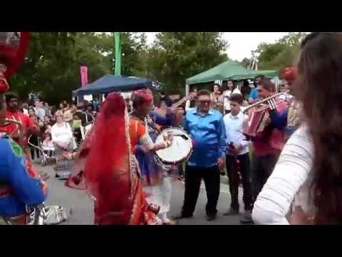 The Jaipur Kawa Brass Band, India & Gypsy Stars - Crawley Intl. Mela, W.Sussex. UK 30.08.14