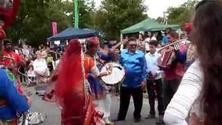 The Jaipur Kawa Brass Band, India & Gypsy Stars - Crawley Intl. Mela, W.Sussex. UK 30.08.14