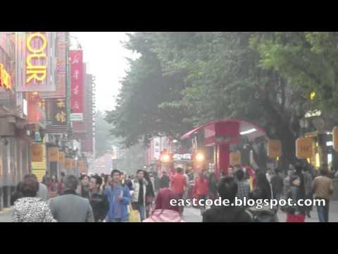 Beijing Lu road Guangzhou walking and shopping  street