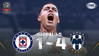 ¡GOLEADA DE RAYADOS A CRUZ AZUL PARA LLEGAR A LA FINAL!   Cruz Azul 14 Monterrey   Liga Concacaf