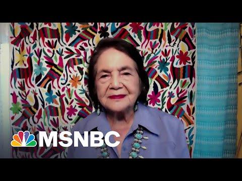 Labor Leader Dolores Huerta Praises 'Courageous' Activism Of Texas Dems