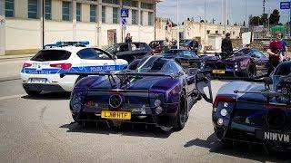 PAGANI ZONDA TOP SPEED RUN...ITALIAN POLICE DON'T CARE