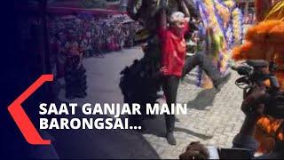 Gubernur Jawa Tengah Bermain Barongsai & Berbagi Angpau