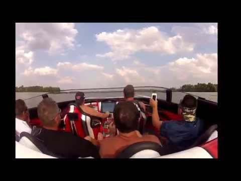 44' MTI Powerboat at Tennessee Poker Run Old Hickory Lake,  over 150 mph with Spanish Fly!