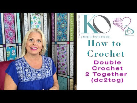 Double Crochet 2 Together (dc2tog): Kristin Omdahl's Crochet Stitch Library