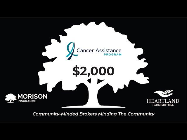 Morison Insurance Donates $2,000 to The Cancer Assistance Program