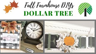 DOLLAR TREE FALL DIYS / RUSTIC FARMHOUSE DIYS/ FALL DECOR